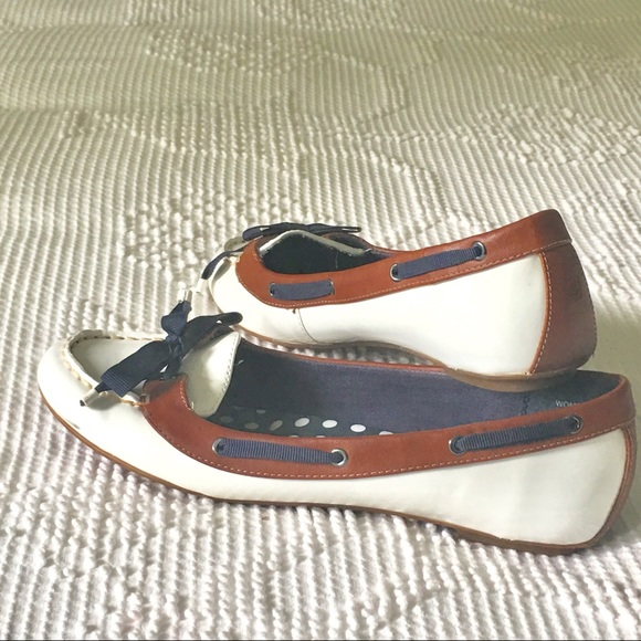 Sperry Top Sider Women's White Navy Loafers Size 8